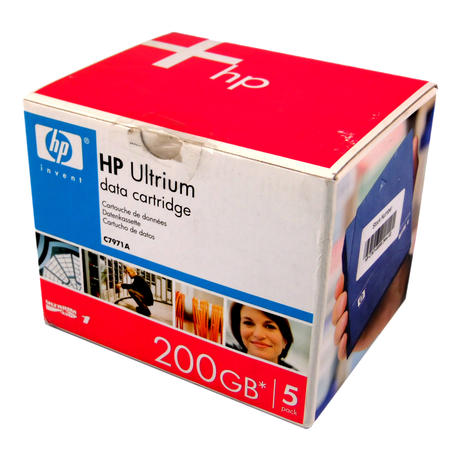 HP C7971-60000 Ultrium LTO1 200GB Data Cartridge 5 Pack | C7971A